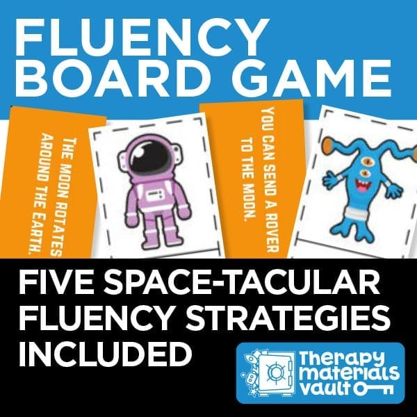 Fluency Board Game: Five space-tacular fluency strategies included