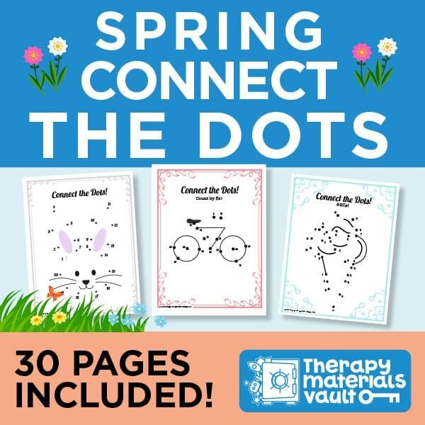 Spring Connect the Dots: 30 Pages Included