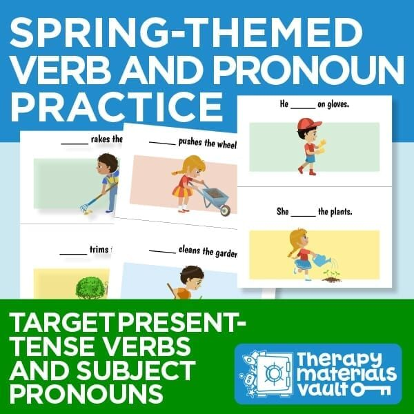 Spring-Themed Verb and Pronoun Practice: Target present-tense verbs and subject pronouns