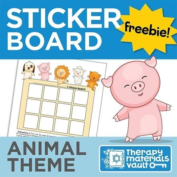 Sticker Board: Animal Theme