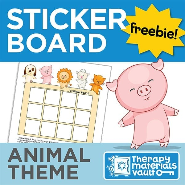 Sticker Board: Animal Theme
