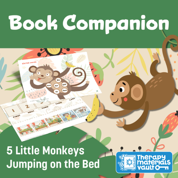 book companion 5 little monkeys jumping in bed