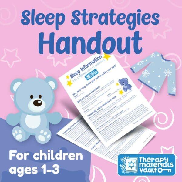 sleep strategies ages 1-3