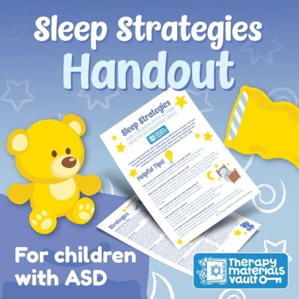 sleep strategies for children with asd