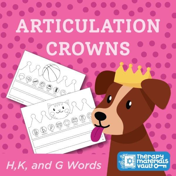 H, K, G Articulation Activity