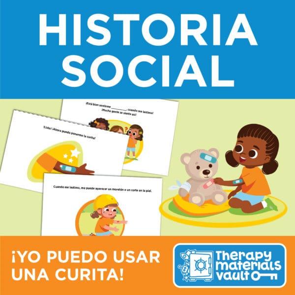 Historia Social: ¡Yo puedo usar una curita! (Social Story: I Can Wear a Bandaid!)