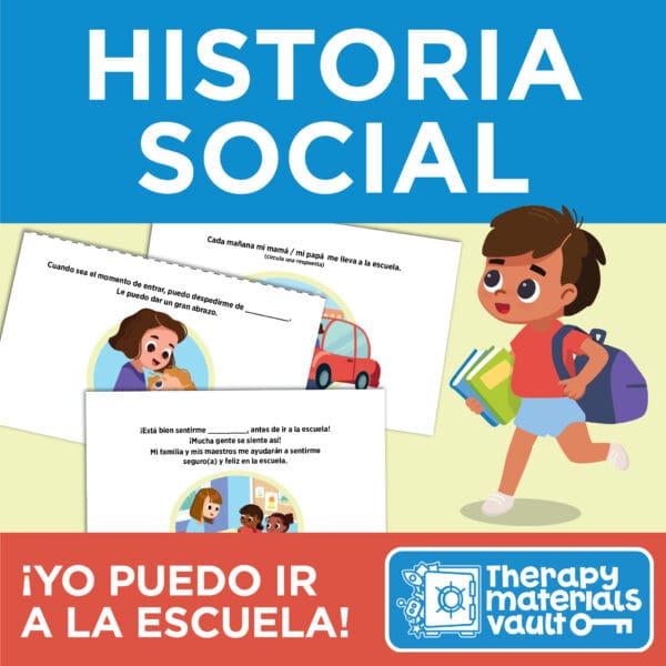 Historia Social: ¡Yo puedo ir a la escuela! (Social Story: I Can Get Dropped Off at School!)