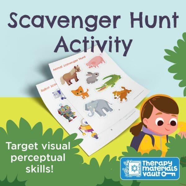 scavenger hunt activity fine motor visual perception