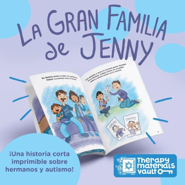 La Gran Familia de Jenny (Esta es una historia corta para niños que tienen un hermano con autismo.)