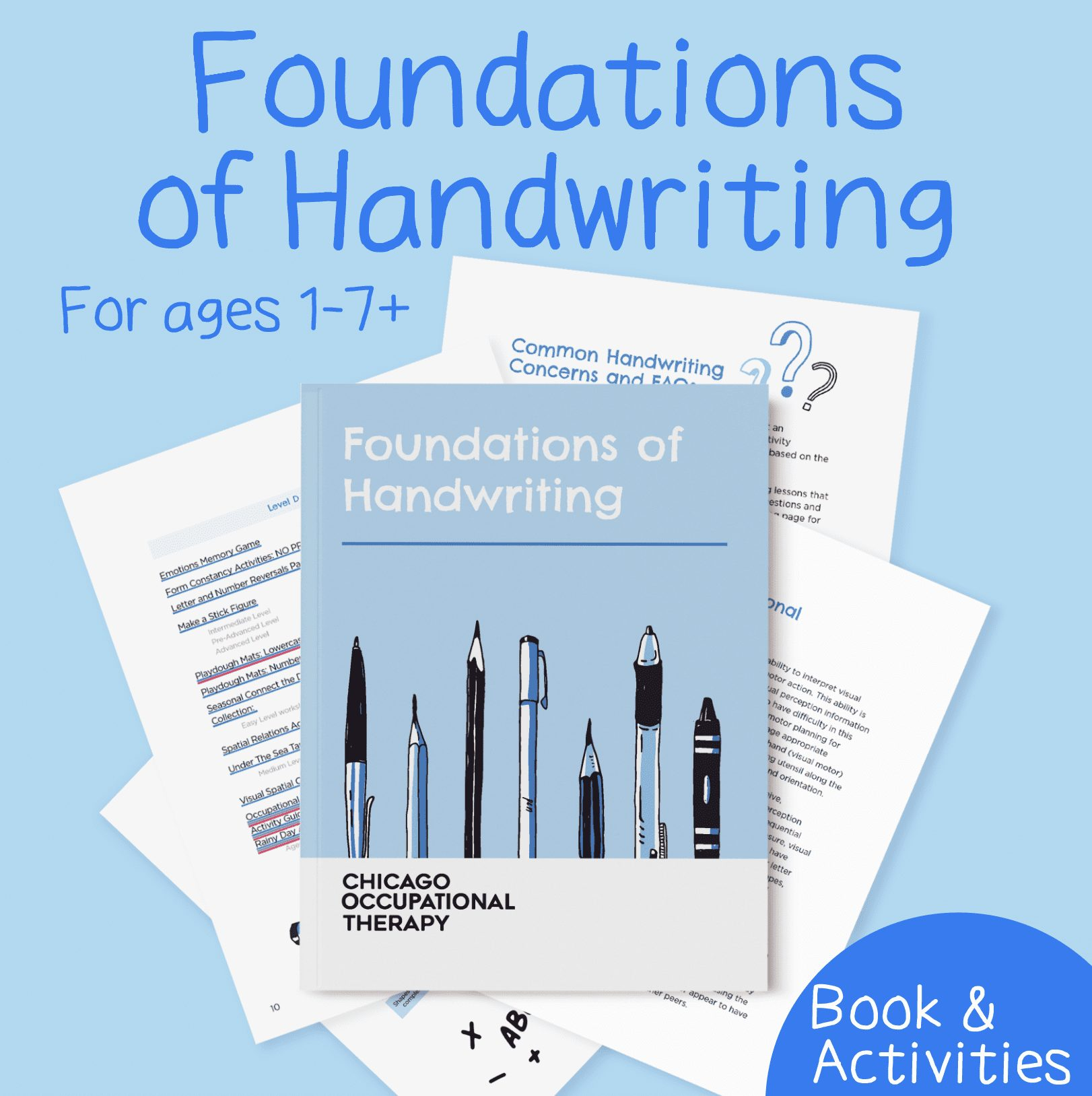 foundations of handwriting, handwriting without tears, fine motor