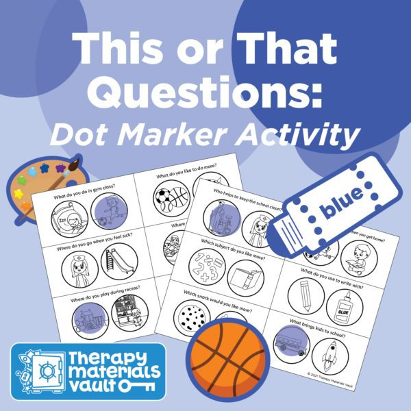 dot marker, asking questions activity
