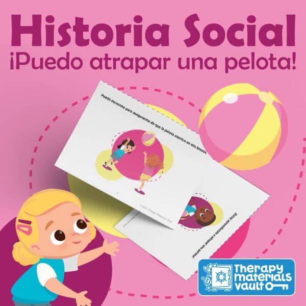 Historia Social: ¡Puedo atrapar una pelota! (Social Story: I Can Throw a Ball!)