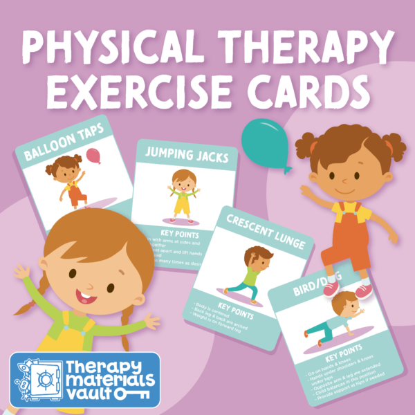 physical therapy exercise activity cards