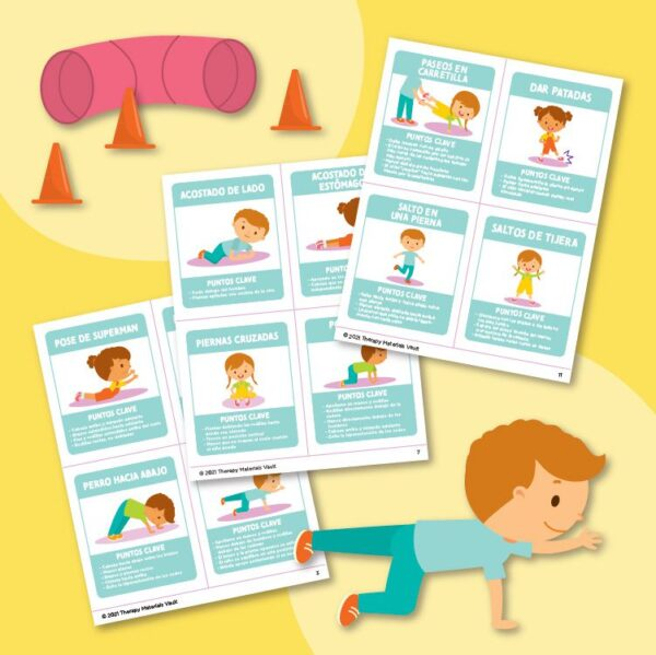 Terapia física Tarjetas de ejercicio (Physical Therapy Exercise Cards)