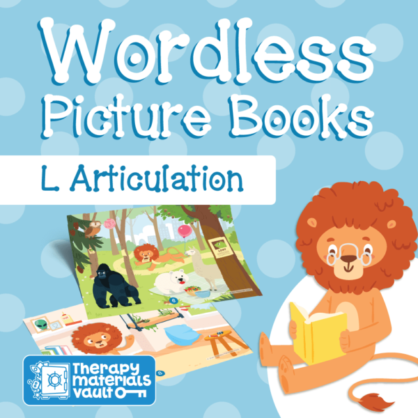 wordless picture book, L articulation, speech therapy