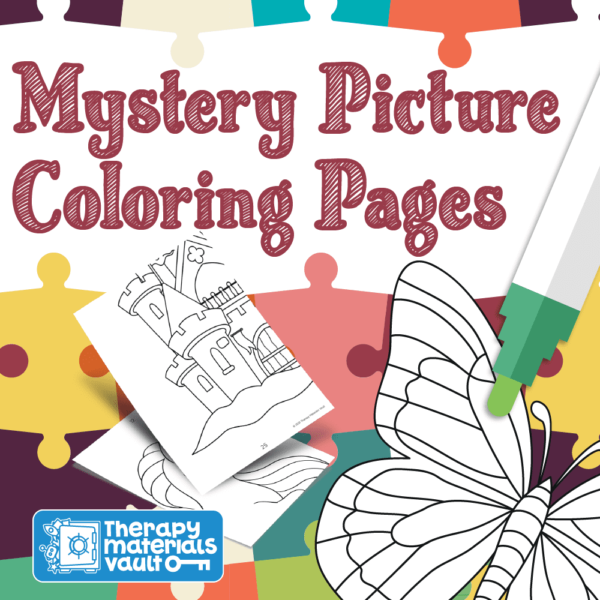 mystery picture fine motor coloring group activity